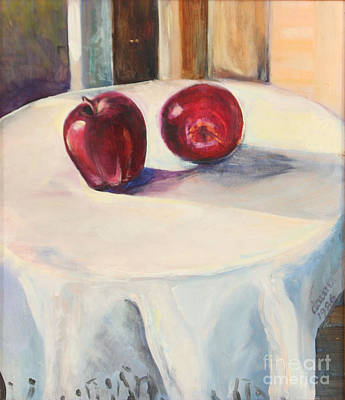 Art Print featuring the painting Still Life With Apples by Daun Soden-Greene