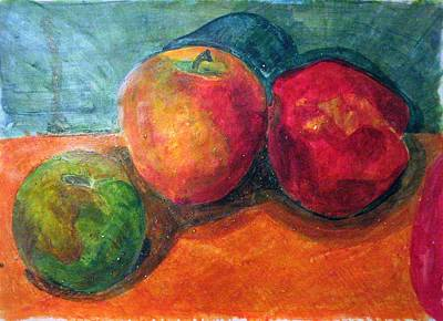 Painting - Still Life With Apples by Jame Hayes