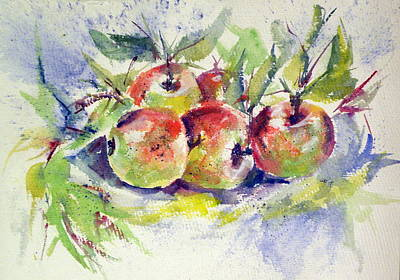 Still Life With Apples Art Print by Kovacs Anna Brigitta