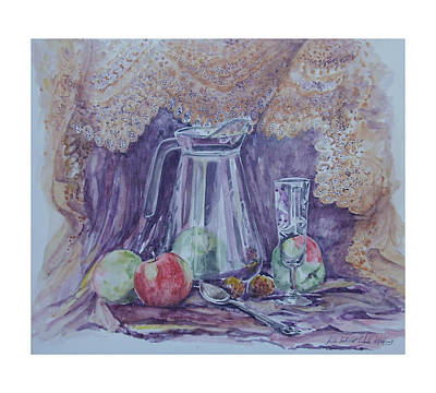 Still Life With Apples Art Print by Rita Fetisov