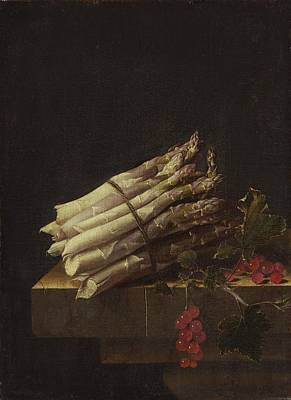 Asparagus Painting - Still Life With Asparagus And Red Currants by Adriaen Coorte