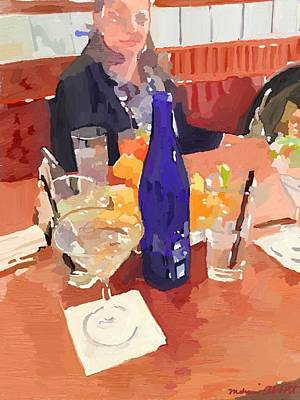 Painting - Still Life With Avery At Azorean Restaurant by Melissa Abbott