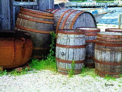 Still Life With Barrels Art Print by RC DeWinter