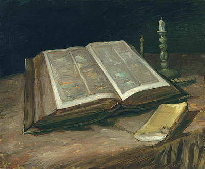 Bookmarks Wall Art - Painting - Still Life With Bible, 1885 by Vincent Van Gogh