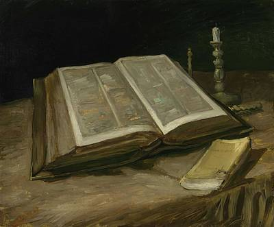 Painting - Still Life With Bible Nuenen, October 1885 Vincent Van Gogh 1853  1890 by Artistic Panda