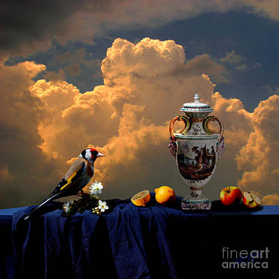 Digital Art - Still Life With Bird by Alexa Szlavics