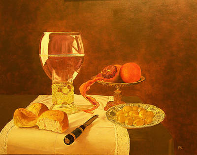 Painting - Still Life With Blood Orange by Kathy Lumsden