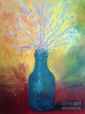 Painting - Still Life With Blue Bottle by Paul Galante