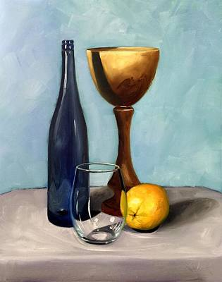 Painting - Still Life With Blue Bottle by RB McGrath
