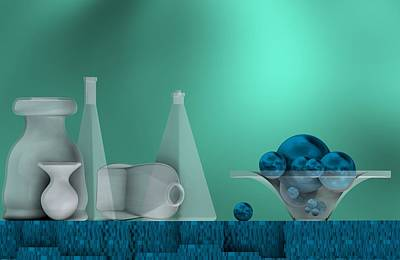 Harmony Digital Art - Still Life With Blue Fruits by Alberto RuiZ