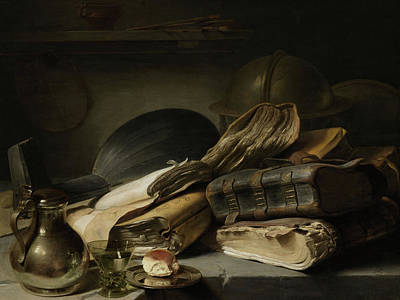 Portaits Painting - Still Life With Books by Jan Lievens