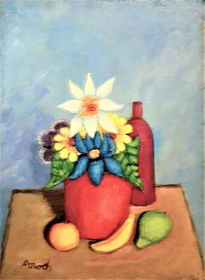 Painting - Still Life With Bottle by Gregory Dorosh