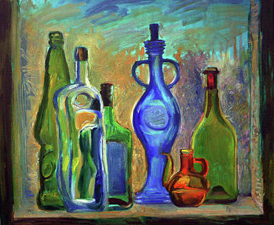 Painting - Still Life With Bottles by Katia Weyher