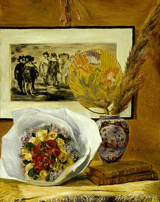 Painting - Still Life With Bouquet by Auguste Renoir