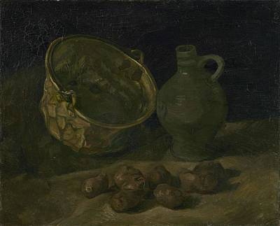 Painting - Still Life With Brass Cauldron And Jug Nuenen, September 1885 Vincent Van Gogh 1853  1890 by Artistic Panda