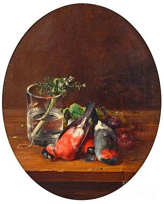 Henrik Painting - Still Life With Bullfinches by MotionAge Designs