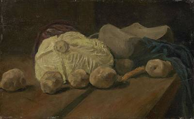 Painting - Still Life With Cabbage And Clogs The Hague, November - December 1881 Vincent Van Gogh 1853   1890 by Artistic Panda