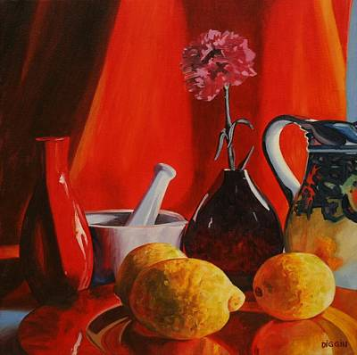 Still-life With Carnation Original by Stephen Diggin