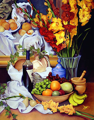 Wooden Bowls Painting - Still Life With Cezanne by Patrick Anthony Pierson