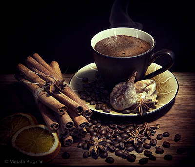 Coffee Photograph - Still Life With Coffee by Magda  Bognar