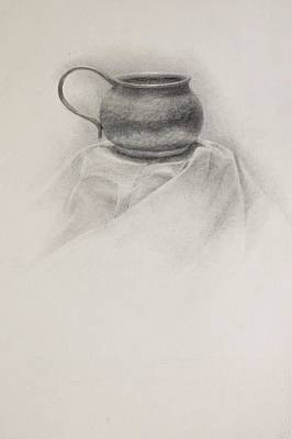 Drawing - Brass Cup by Grace Diehl