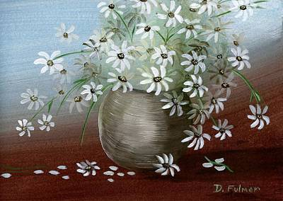 Painting - Still Life With Daisies by Denise Fulmer