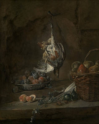 18th Century Painting - Still Life With Dead Pheasant by Jean-Baptiste-Simeon Chardin