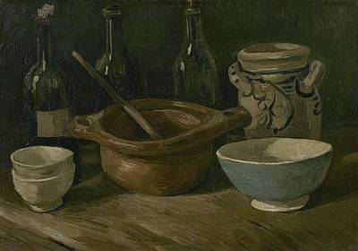 Painting - Still Life With Earthenware And Bottles Nuenen, September - October 1885 Vincent Van Gogh 1853  18 by Artistic Panda