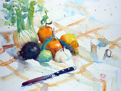 Still Life With Fennel And Clementines Original