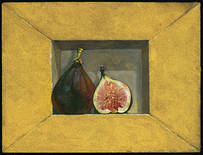Still Life With Figs Art Print by Barbara Hranilovich