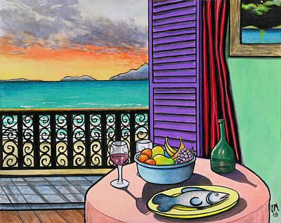 Still Life With Fish Print by Joe Michelli