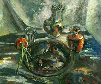 Still Life With Fish   Original by Nina Silaeva