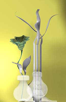 Harmony Digital Art - Still Life With Flower by Alberto RuiZ