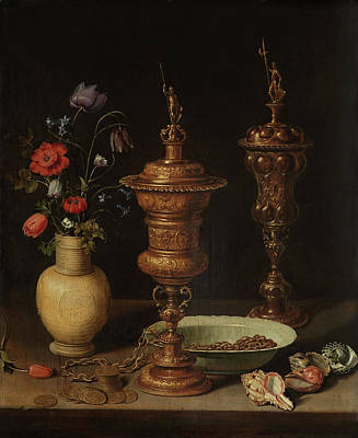 Painting - Still Life With Flowers And Gilt Goblets by Clara Peeters