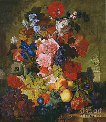 Painting - Still Life With Flowers by Simon Kozhin