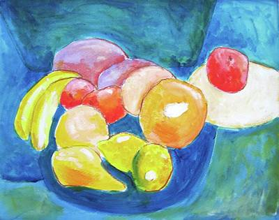 Painting - Still Life With Fruiit by Clarence Major