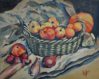 Painting - Still Life With Fruit And Vegetables by Nop Briex