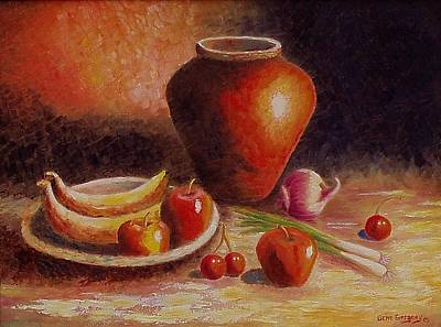 Painting - Still Life With Fruit by Gene Gregory