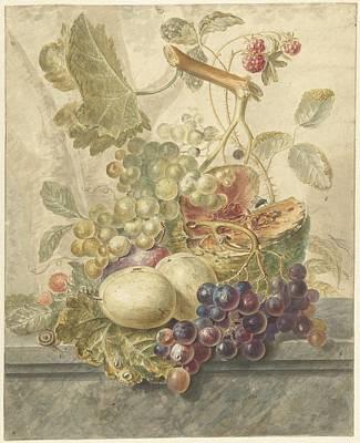 Still Life With Fruit, Henry 1771 - 1816 Art Print
