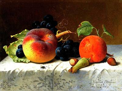 Painting - Still Life With Fruit by Pg Reproductions