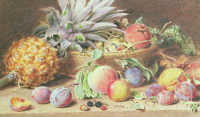 Pantries Painting - Still Life With Fruit by William Henry Hunt