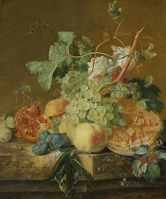 Painting - Still Life With Fruits by Jan van Huysum