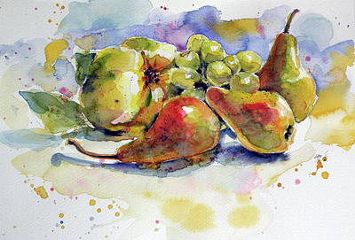 Pears Painting - Still Life With Fruits by Kovacs Anna Brigitta