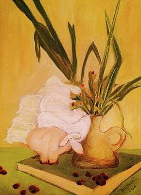 Pastel - Still Life With Funny Sheep by Manuela Constantin
