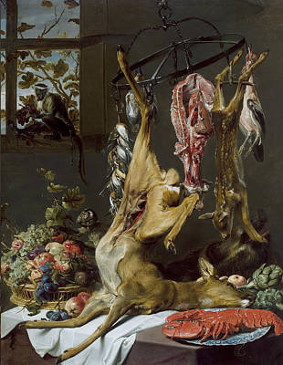 Painting - Still Life With Game Suspended On Hooks by Frans Snyders