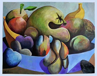 Painting - Still Life With Gourds by Geoff Greene