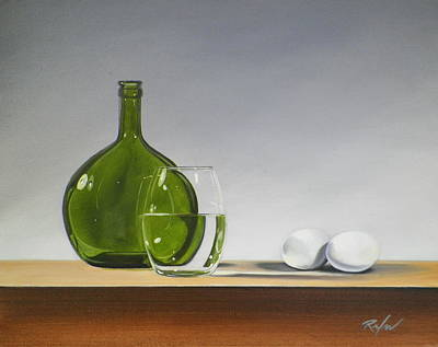 Painting - Still Life With Green Bottle by RB McGrath