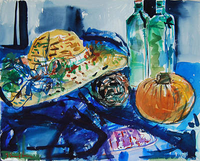 Painting - Still Life With Hat by Zolita Sverdlove