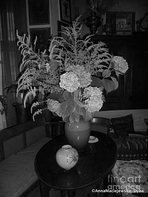 Photograph - Still Life With Hydrangea by Anna Folkartanna Maciejewska-Dyba