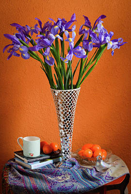 Wall Art - Photograph - Still Life With Iris by Wendy Blomseth